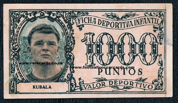 1952 Kubala playmoney Barca